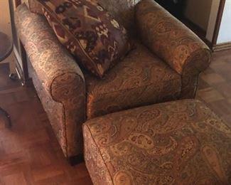 Comfy Chair & Matching Ottoman