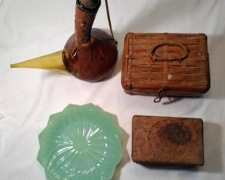 jewelry boxes and decanter