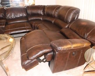 Sectional sofa with Recliner chairs.