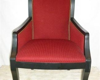 RED AND BLACK ARM CHAIR