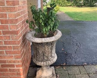 Set of two ornate planters $75.00