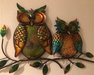 OWL TINS ON WALL
