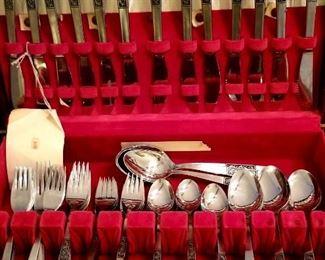 Several flatware sets