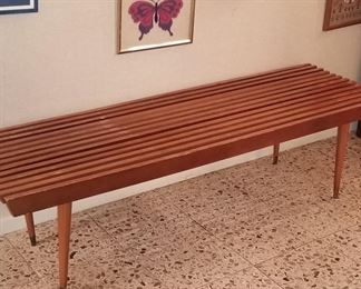 Mid Century Slit Slat bench/table