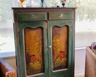 Folk Art Pie Safe - $495 - (38W  16D  57H)