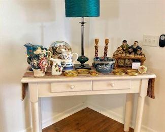 White Entry/Sofa Table w/drawer - $95