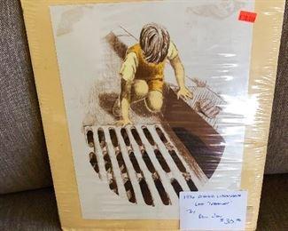 "1976 Signed Paul Jon Lithograph ""Lost Treasure"""