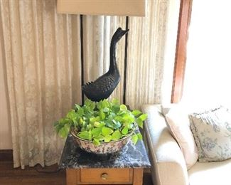 "Duck Lamp by William ""Billy"" Haines will not be reduced."