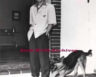 Jack Webb at the house with his beloved puppy