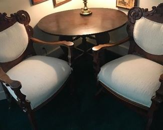 Antique chairs and table. Great condition, smoke free, pet free home.