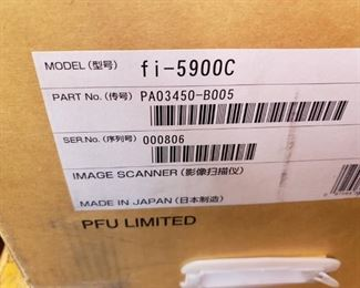 (2)Fujitsu Fi-5900C Pass-Through Scanners new in boxes