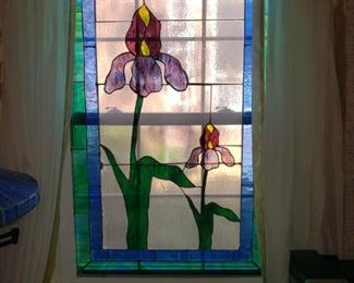 Gorgeous Stained Glass window inserts by Local Artisan