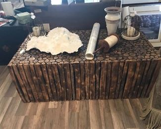 Awesome and one of a kind wooden coffee table