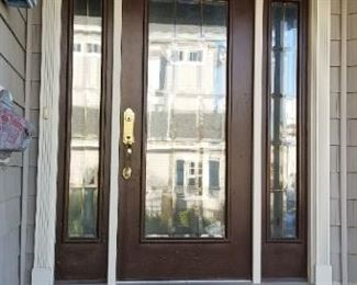 Great entry door with side lights