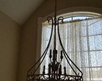Elegant light fixtures throughout