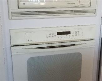 GE Profile microwave and oven