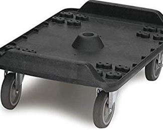 Carlisle MY41003 Cateraide Polyethylene Dolly with Standard Casters, For End Loader