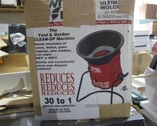 Yard & Garden Clean UP Machine Reduces 30 to 1