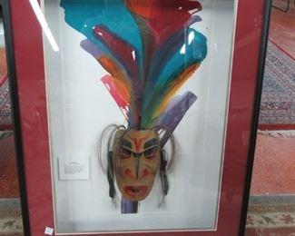 Alaskan Tsonoqua Wood Mask