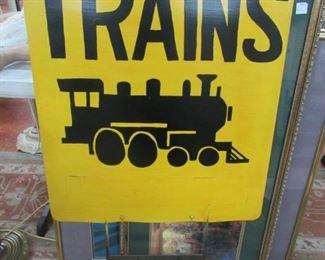 Vintage train sign