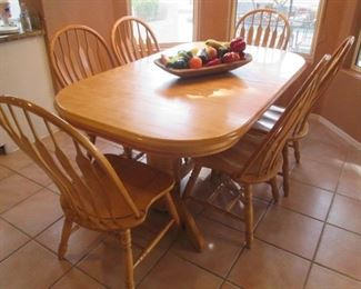 """Dinette Table/6-Chairs, 72"""" X 42"""""""