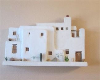 """3-Wall Mount Pueblos, Sold Separately, 41"""" X 27"""""""