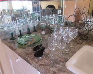 Colored & Clear Stems & Wine Rack