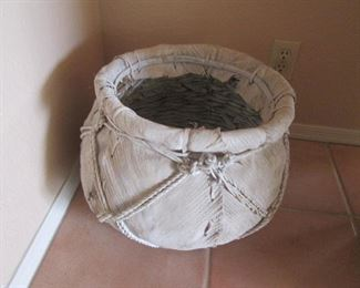 Leather-Wrapped Basket