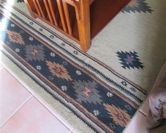 """Large Southwest-Style Area Rug in Neutral Colors                            88"""" X 64"""""""