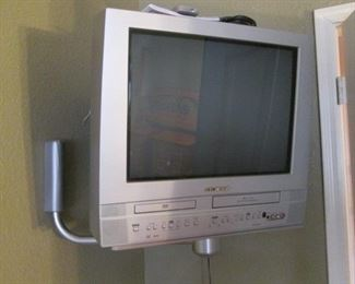 Sylvania TV, DVD & Hi Fi Stereo on Wall Bracket