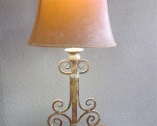 Table Lamp, Metal Base