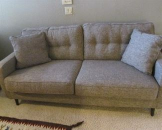 Tailored Sofa with Button-Tufting
