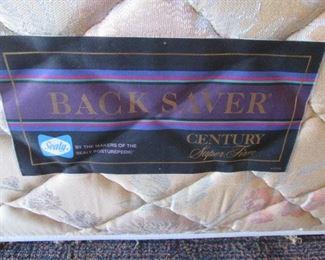 Twin-Size Sealy Back Saver Mattress Set