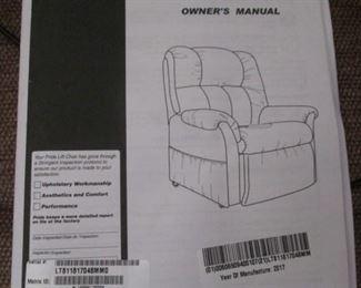 Pride Owner's Manual