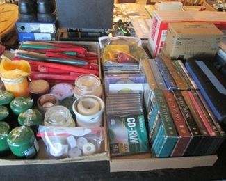 Candles, VHS's, Computer Supplies