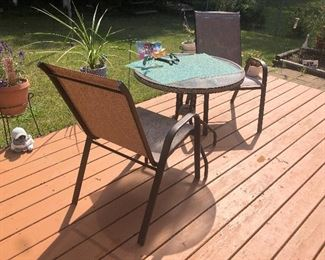 patio set small bistro table
