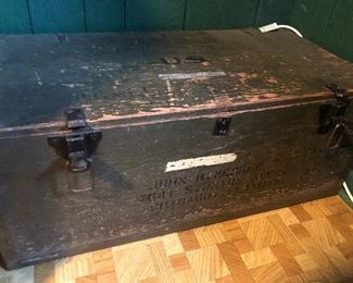 Us army military trunk