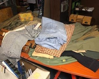 Vintage clothing and vintage army uniforms