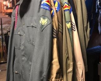 Military army clothes vintage with medals