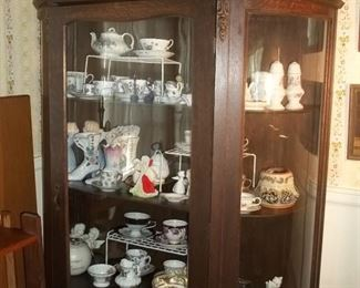 Curved glass china cabinet $299