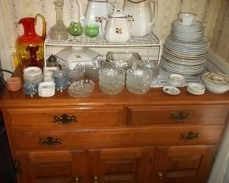 dining room buffet with flatware drawer $125.00