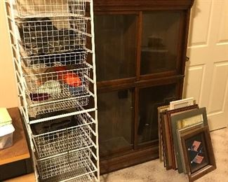 Antique bookcase * storage cart