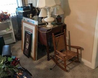 Artwork * antiques * lamps