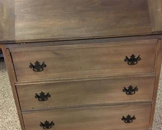 Walnut? Secretary Professionally stripped  Ready for finishing