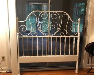 Full size bed headboard and footboard .