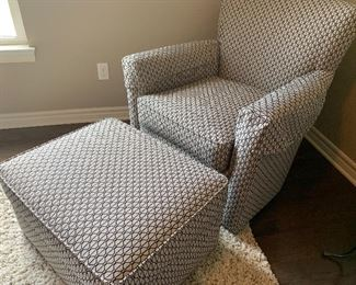 Ethan Allen Chair and Ottoman