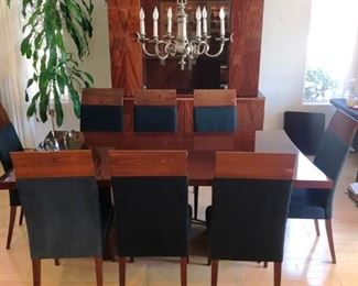 Excelsior Dining set from Italy in lacquered mahogany