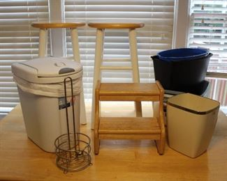 stools and dishpans