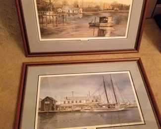 Two Large Original, Signed Prints
