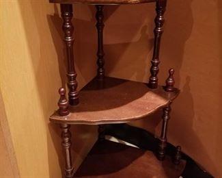 """Wooden corner shelf about 30"""" tall"""